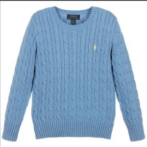 Ralph-Lauren Girl cable Kinit Sweater
